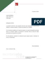 Modelo Carta Solicitud Empleo