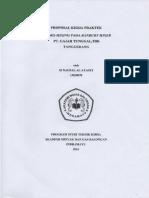 Proposal Kerja Praktek pt gajah tunggal tbk