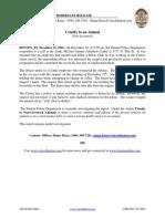 Denton PD Cruelty to an Animal Press Release (December 21, 2016)