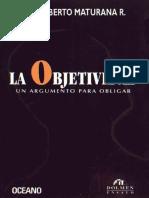 Humberto Maturana La Objetividad