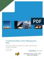 Construction Phase Noise Management Plan