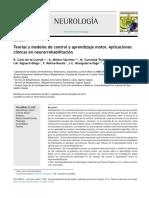 Teor as y Modelos de Control y Aprendizaje Motor Aplicaciones Cl Nicas en Neurorrehabilitaci n 2015 Neurolog A