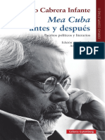 Guillermo Cabrera Infante - Mea Cuba antes y después (prólogo)