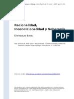 Emmanuel Biset (2007). Racionalidad, Incondicionalidad y Soberania.pdf