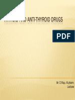 Thyroid and Anti-Thyroid Drugs