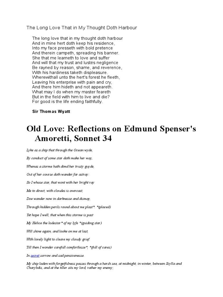 amoretti sonnet 34