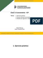 Clase 3- Econometría GM