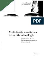 Métodos de Enseñanza de La Bibliotecologia Josefa e. Sabor