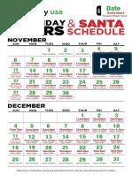 Destiny USA Santa Schedule 2016
