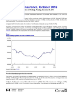 Statistics Canada - The Daily - Employment Insurance, October 2016