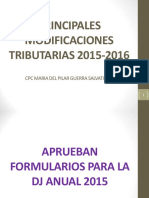 16.03.01 Ultimas Modificaciones Tributarias 2015 2016