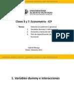 Clases 6 y 7 - Econometría GM
