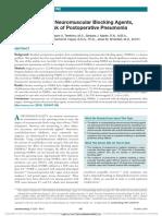 BNM y Neumonia Postoperatoria. Anesthesiology Oct 2016