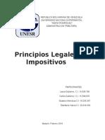 Principios legales impositivos