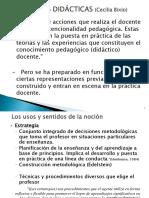 Estrategias Didácticas (Cecilia Bixio, 2014)