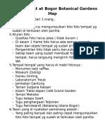 Treasure Hunt at Bogor Botanical Gardens and Maps