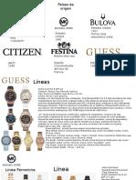 Marcas de relojeria Analisis cli