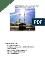 Makalah Pendidikan Agama Islam Dan Budi Pekerti Tentang Haji