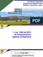 Ley 1682-13, CONPES 3761, 3820, 3849. Normatividad Adcional Infraestructura