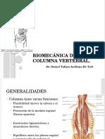 Biomecánica de La Columna Vertebral