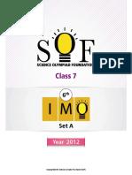Class 7 Imo Year 2012(b)