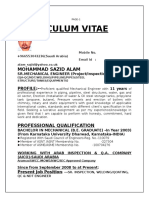 Curriculum Vitae 2016 of Md Sazid Alam PDF Updated