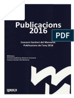 Publicacions Consorci Sanitari Del Maresme 2016