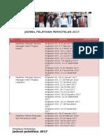Jadwal Pelatihan Perhotelan_2017