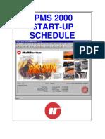 Startup Schedule Activity Descriptions