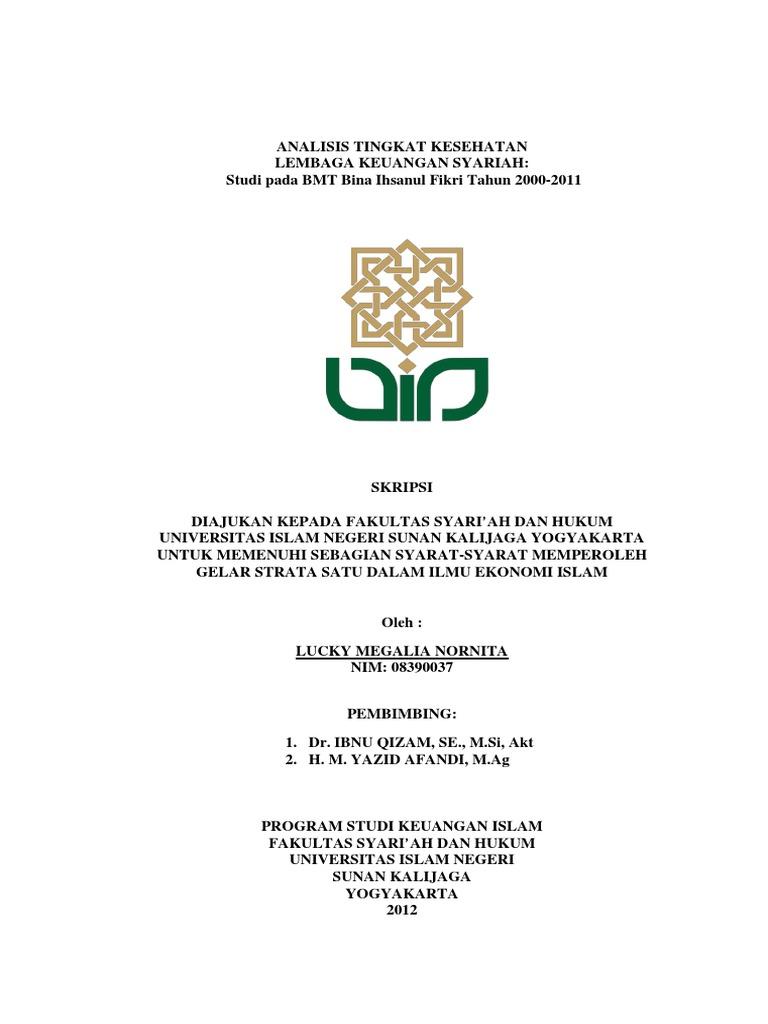 judul skripsi ekonomi islam tentang bmt