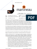 Dan Johnson Martineau - Profile Paper
