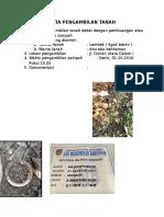 Data Pengambilan Tanah