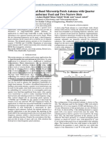 Optimization of Dual-Band MicroStrip Patch Antenna with Quarter Wave Transformer Feed and Two Narrow Slots