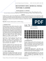 Devnagri Script Recognition Using Artificial Neural Network Classifier