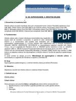 Metodologia de Supraveghere a Infectiei Urliene 2016