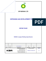 Kepodang BP Muriah - Spec for Welding WMSS Linepipe