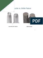 Brittle & Ductile Failure of Materials