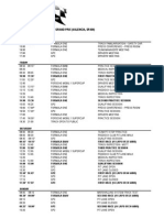 2010 F1 European Grand Prix Timetable