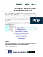 Limits, Continuity and Differentiability - GATE Study Material in PDF