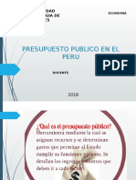 PROSUPUESTO PUBLICO PERUANO