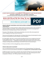 Land Use Planning Registration Form and Package