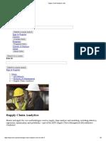 Supply Chain Analytics _ EdX