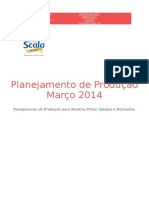 Relatório - Planejamento Produção Março 2014