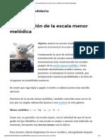 Armonización de La Escala Menor Melódica _ El Club Del Autodidacta
