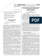 Decreto Legislativo que aprueba el Marco de la Responsabilidad y Transparencia Fiscal del Sector Público No Financiero