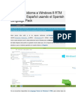 Cambiar El Idioma a Windows 8 RTM de Inglés a Español Usando El Spanish Language Pack