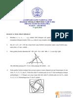 Soal OSN Matematika SMP Provinsi 2016
