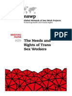 The Needs and Rights of Trans Sex Workers