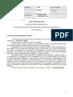 FSEGA Eseu Admitere FSEGA Iulie 2015 Totorean Alexandru 2222