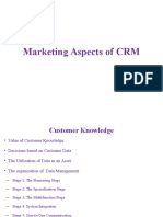 Marketing Aspects of CRM